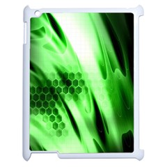 Abstract Background Green Apple Ipad 2 Case (white) by Simbadda
