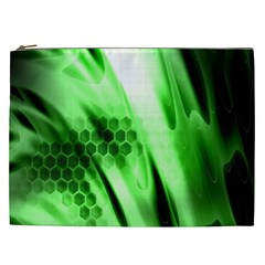 Abstract Background Green Cosmetic Bag (xxl)
