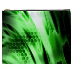 Abstract Background Green Cosmetic Bag (xxxl)  by Simbadda