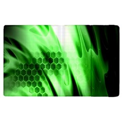 Abstract Background Green Apple Ipad 2 Flip Case by Simbadda