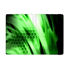 Abstract Background Green Apple Ipad Mini Flip Case by Simbadda
