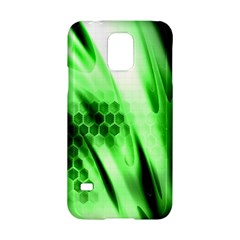 Abstract Background Green Samsung Galaxy S5 Hardshell Case  by Simbadda