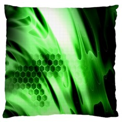 Abstract Background Green Standard Flano Cushion Case (one Side) by Simbadda