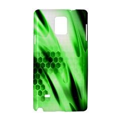 Abstract Background Green Samsung Galaxy Note 4 Hardshell Case by Simbadda