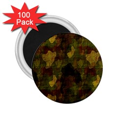 Textured Camo 2 25  Magnets (100 Pack)  by Simbadda