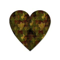 Textured Camo Heart Magnet by Simbadda