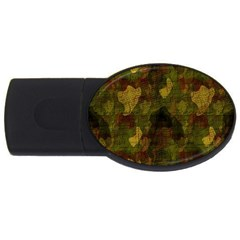 Textured Camo Usb Flash Drive Oval (4 Gb) by Simbadda