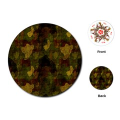 Textured Camo Playing Cards (round)  by Simbadda