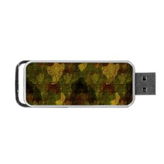 Textured Camo Portable Usb Flash (one Side) by Simbadda