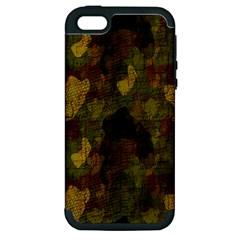 Textured Camo Apple Iphone 5 Hardshell Case (pc+silicone) by Simbadda