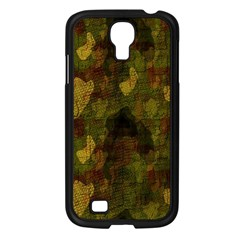 Textured Camo Samsung Galaxy S4 I9500/ I9505 Case (black) by Simbadda
