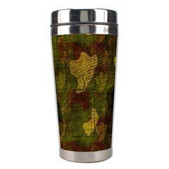 Textured Camo Stainless Steel Travel Tumblers by Simbadda