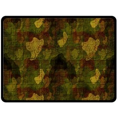 Textured Camo Double Sided Fleece Blanket (large)  by Simbadda