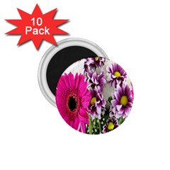 Purple White Flower Bouquet 1 75  Magnets (10 Pack)  by Simbadda