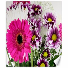 Purple White Flower Bouquet Canvas 20  X 24   by Simbadda