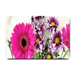 Purple White Flower Bouquet Small Doormat  by Simbadda