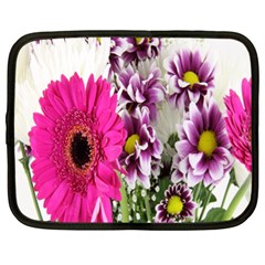 Purple White Flower Bouquet Netbook Case (xl)  by Simbadda