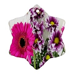 Purple White Flower Bouquet Ornament (snowflake) by Simbadda
