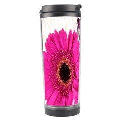 Purple White Flower Bouquet Travel Tumbler by Simbadda