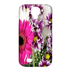 Purple White Flower Bouquet Samsung Galaxy S4 Classic Hardshell Case (pc+silicone) by Simbadda