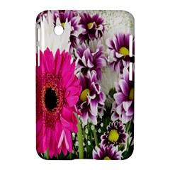 Purple White Flower Bouquet Samsung Galaxy Tab 2 (7 ) P3100 Hardshell Case  by Simbadda