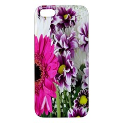 Purple White Flower Bouquet Iphone 5s/ Se Premium Hardshell Case by Simbadda