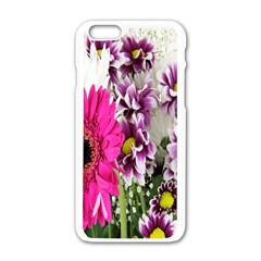 Purple White Flower Bouquet Apple Iphone 6/6s White Enamel Case by Simbadda
