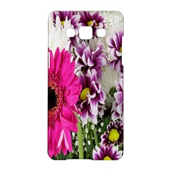 Purple White Flower Bouquet Samsung Galaxy A5 Hardshell Case  by Simbadda