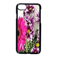 Purple White Flower Bouquet Apple Iphone 7 Seamless Case (black) by Simbadda