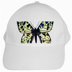 A Colorful Butterfly Image White Cap by Simbadda
