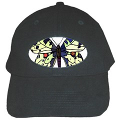 A Colorful Butterfly Image Black Cap by Simbadda