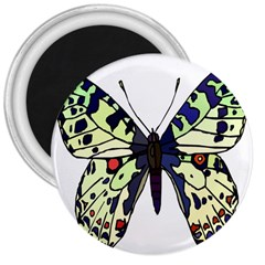 A Colorful Butterfly Image 3  Magnets by Simbadda