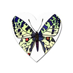 A Colorful Butterfly Image Heart Magnet by Simbadda