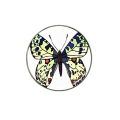 A Colorful Butterfly Image Hat Clip Ball Marker by Simbadda
