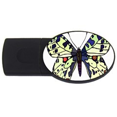 A Colorful Butterfly Image Usb Flash Drive Oval (4 Gb) by Simbadda