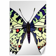 A Colorful Butterfly Image Canvas 24  X 36  by Simbadda