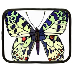 A Colorful Butterfly Image Netbook Case (large) by Simbadda
