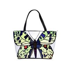 A Colorful Butterfly Image Shoulder Handbags by Simbadda