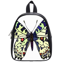 A Colorful Butterfly Image School Bags (small)  by Simbadda