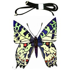 A Colorful Butterfly Image Shoulder Sling Bags by Simbadda