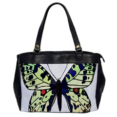 A Colorful Butterfly Image Office Handbags by Simbadda