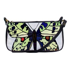 A Colorful Butterfly Image Shoulder Clutch Bags by Simbadda