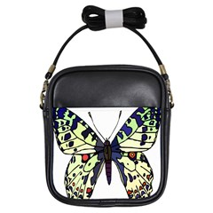 A Colorful Butterfly Image Girls Sling Bags by Simbadda