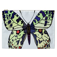 A Colorful Butterfly Image Cosmetic Bag (xxl)  by Simbadda