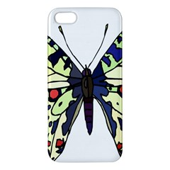 A Colorful Butterfly Image Apple Iphone 5 Premium Hardshell Case by Simbadda