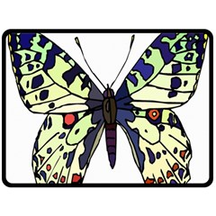 A Colorful Butterfly Image Double Sided Fleece Blanket (large)  by Simbadda