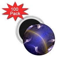Fractal Magic Flames In 3d Glass Frame 1 75  Magnets (100 Pack)  by Simbadda