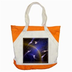 Fractal Magic Flames In 3d Glass Frame Accent Tote Bag by Simbadda