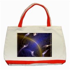 Fractal Magic Flames In 3d Glass Frame Classic Tote Bag (red) by Simbadda