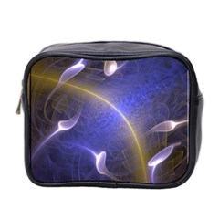 Fractal Magic Flames In 3d Glass Frame Mini Toiletries Bag 2 Side by Simbadda